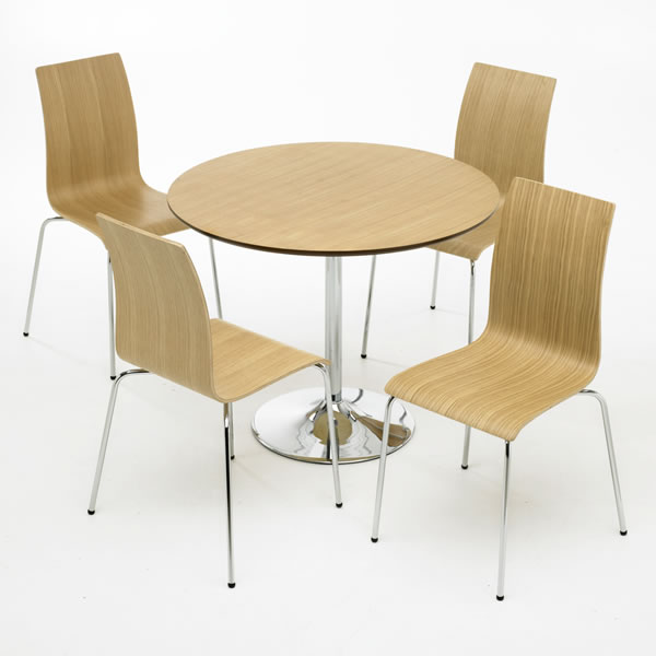 Soho Dining Table & 4 Chairs Set