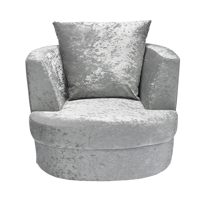 Outstanding Bliss Small Swivel Snuggle Chair In Silver Free Delivery Bralicious Painted Fabric Chair Ideas Braliciousco