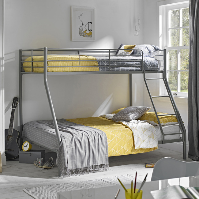 Primo Triple Sleeper Bunk Beds In Silver Free Delivery Furniture Outlet