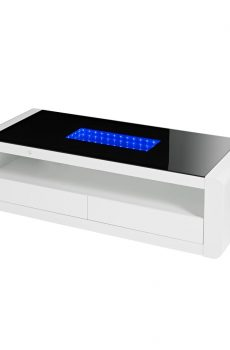 Matrix White High Gloss Dining Table With Led Lighting